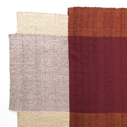 Nobsa | Teppich mittelgroß, rot/ocker/creme | Formatteppiche / Designerteppiche | Ames