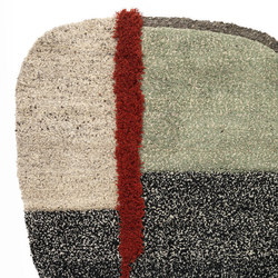 Nudo | rug large, grey/green/black | Tappeti / Tappeti d'autore | Ames