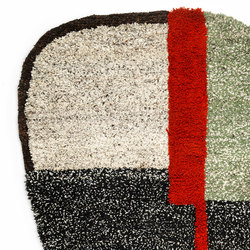 Nudo | rug small, grey/green/black | Tappeti / Tappeti d'autore | Ames