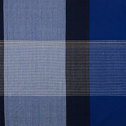 Ruana | plaid, blue/black/yellow | Plaids | Ames