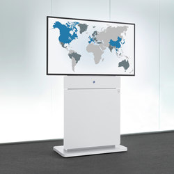 W8 slim Media Column | AV trolleys / stands | Holzmedia