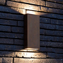 SIMPLY PILLAR up/down Wall medium Brass LED | Lampade outdoor parete | PVD Concept