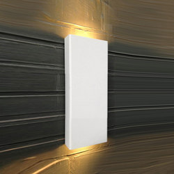 SIMPLY PILLAR up/down Wall medium White LED | Lampade outdoor parete | PVD Concept