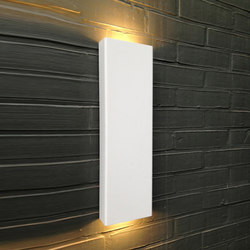 SIMPLY PILLAR up/down Wall large White LED | Lampade outdoor parete | PVD Concept