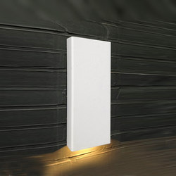 SIMPLY PILLAR down Wall medium White LED | Lampade outdoor parete | PVD Concept