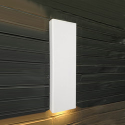SIMPLY PILLAR down Wall large White LED | Lampade outdoor parete | PVD Concept