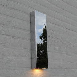 SIMPLY PILLAR down Wall large Chrome LED | Outdoor wall lights | PVD Concept