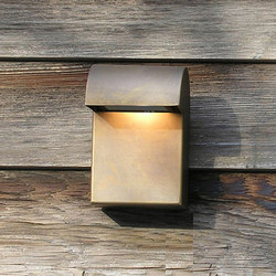 SIMPLY Wall 15cm Brass LED | Lámparas exteriores de pared | PVD Concept