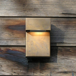 SIMPLY 90° Wall 15cm Brass LED | Lampade outdoor parete | PVD Concept