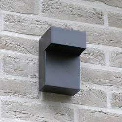 SIMPLY 90° Wall 15cm Anodised Black LED | Lampade outdoor parete | PVD Concept