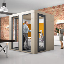 Meeting Unit | grey | Space dividers | OFFICEBRICKS