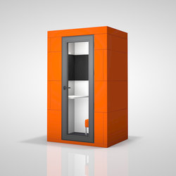 Phone Unit | orange | Space dividers | OFFICEBRICKS