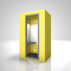 Phone Unit | yellow | Space dividers | OFFICEBRICKS