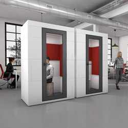 Phone Unit | double red | Space dividers | OFFICEBRICKS
