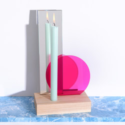 Colour Table Mirror with Candle | Bougeoirs | Tuttobene