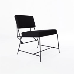 Hensen Loungechair steel / fabric for New Duivendrecht | Sillones | Tuttobene