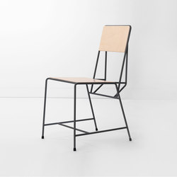 Hensen Chair steel / wood for New Duivendrecht | Chaises de cantine | Tuttobene
