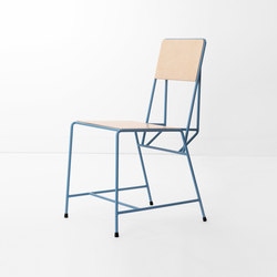 Hensen Chair steel / wood for New Duivendrecht | Stühle | Tuttobene