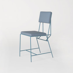 Hensen Chair steel / fabric for New Duivendrecht | Chaises de restaurant | Tuttobene