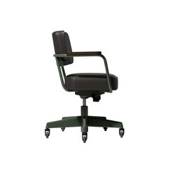 Fauteuil Direction Pivotant (Cuir) | Arbeitsdrehstühle | Vitra