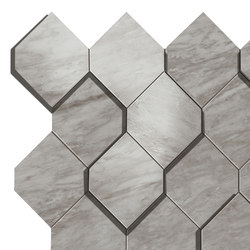Marvel Stone bardiglio esagono | Piastrelle ceramica | Atlas Concorde