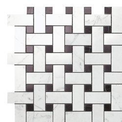 Marvel Stone basketweave cold | Ceramic tiles | Atlas Concorde