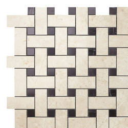 Marvel Stone basketweave warm | Ceramic tiles | Atlas Concorde