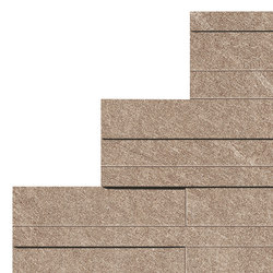 Marvel Stone beige brick 3D | Ceramic tiles | Atlas Concorde