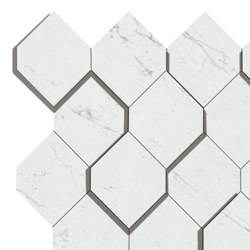 Marvel Stone carrara esagono | Ceramic panels | Atlas Concorde