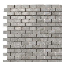 Marvel Stone mosaico burattato bardiglio | Ceramic tiles | Atlas Concorde