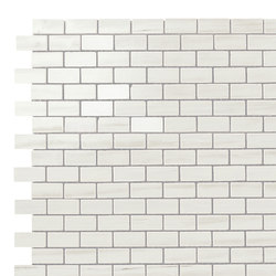 Marvel Stone mosaico burattato bianco dolomite | Piastrelle ceramica | Atlas Concorde
