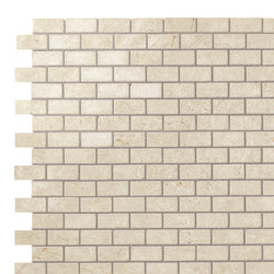 Marvel Stone mosaico burattato cream | Ceramic panels | Atlas Concorde