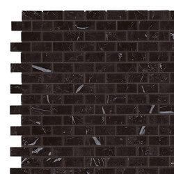 Marvel Stone mosaico burattato nero marquinia | Ceramic panels | Atlas Concorde