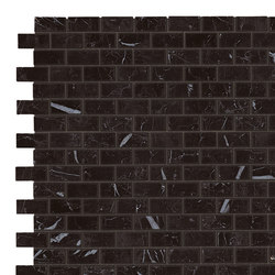 Marvel Stone mosaico burattato nero marquinia | Keramik Platten | Atlas Concorde