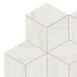 Marvel Stone mosaico esagono bianco dolomite | Ceramic panels | Atlas Concorde