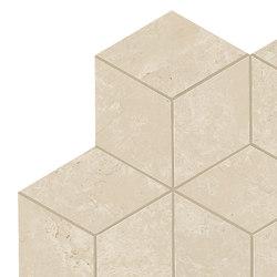 Marvel Stone mosaico esagono cream lappato | Ceramic tiles | Atlas Concorde