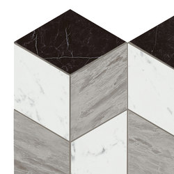 Marvel Stone mosaico geo cold | Ceramic panels | Atlas Concorde