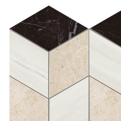 Marvel Stone mosaico geo warm | Ceramic slabs | Atlas Concorde