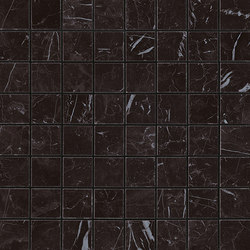 Marvel Stone mosaico matt nero marquinia | Ceramic panels | Atlas Concorde