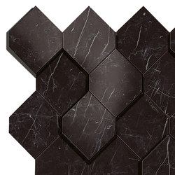 Marvel Stone nero esagono | Ceramic panels | Atlas Concorde