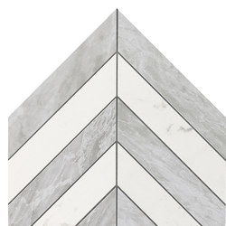 Marvel Stone chevron Mix Wall bardiglio carrara marquina | Ceramic tiles | Atlas Concorde