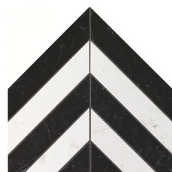 Marvel Stone chevron marquina carrara | Ceramic panels | Atlas Concorde
