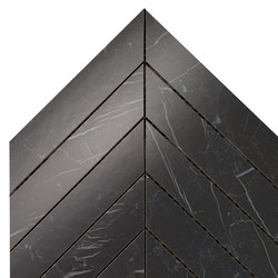 Marvel Stone chevron nero marquinia | Ceramic panels | Atlas Concorde