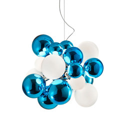 Digit Chandelier |Ceiling | mirrored aquamarine | Pendelleuchten | Emmanuel Babled