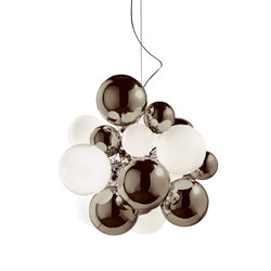 Digit Chandelier |Ceiling | mirrored warm grey | Pendelleuchten | Emmanuel Babled