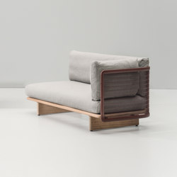Mesh right corner module end | Gartensofas | KETTAL