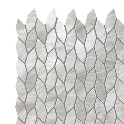 Marvel Stone mosaico twist grigio bardiglio | Ceramic panels | Atlas Concorde