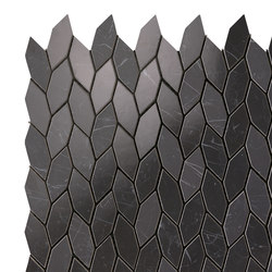 Marvel Stone mosaico twist nero marquina | Ceramic tiles | Atlas Concorde