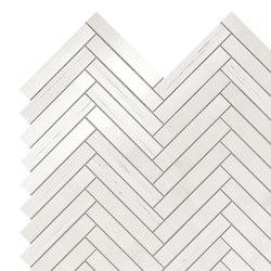 Marvel Stone mos herring bone bianco dolomite | Ceramic tiles | Atlas Concorde