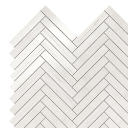 Marvel Stone mos herring bone bianco dolomite | Ceramic panels | Atlas Concorde